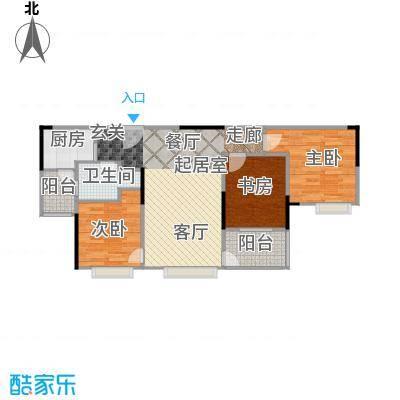 中信凯旋国际81.83㎡户型3室1卫1厨