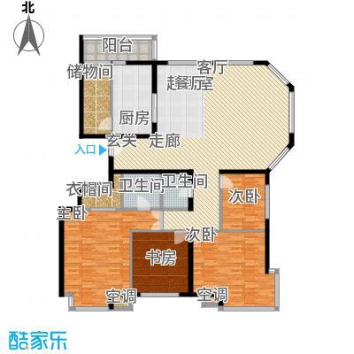 上东领海205.28㎡上东领海户型图五室两厅两卫(3/15张)户型10室