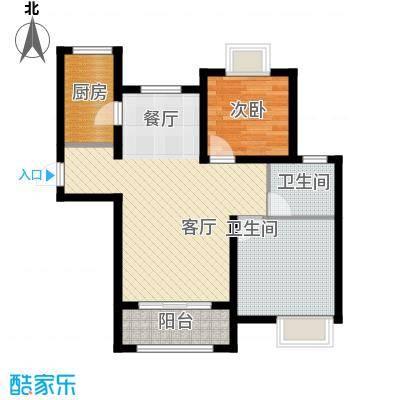 太湖国际社区88.00㎡湖湾HOUSEA-1户型2室2厅1卫
