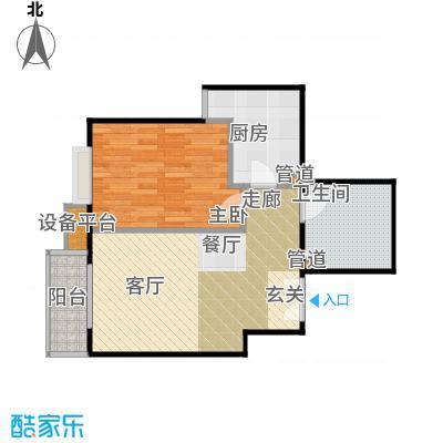 华纺易城14号楼D3户型1室1厅1卫1厨