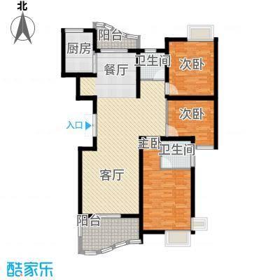 荣宏富家128.00㎡4、5、8号楼C2户型3室2厅2卫