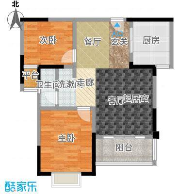 新城玉龙湾新城玉龙湾户型图A户型面积约77平米(1/35张)户型10室