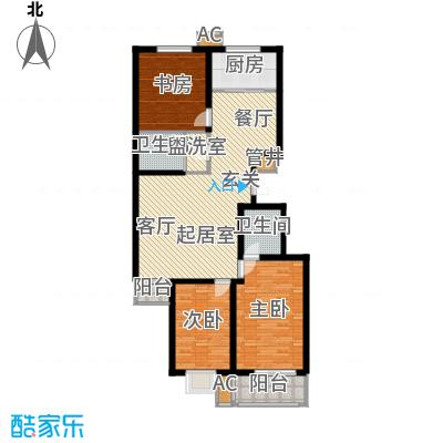 金潞苑金潞苑户型图三室二厅二卫(1/7张)户型10室
