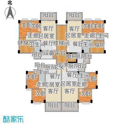 阳光雅居二、三号楼三至十一层平面图户型8室5卫4厨
