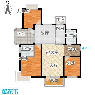 金隅・观澜时代133.00㎡F4户型3室2厅2卫