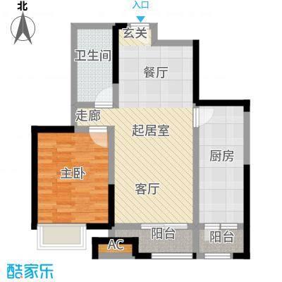瞰海尚府79.12㎡3号楼02户型一室一厅一卫户型1室1厅1卫