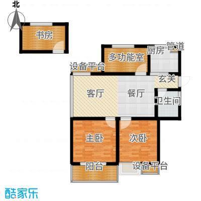 香江壹品-户型3室1卫1厨
