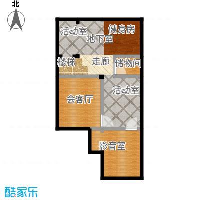 绿地壹中心236.00㎡K紫檀 地下一层平面图户型