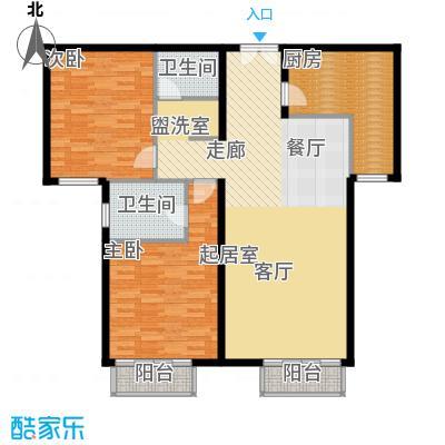 丽都壹号114.00㎡C02户型2室2厅2卫1厨户型2室2厅2卫