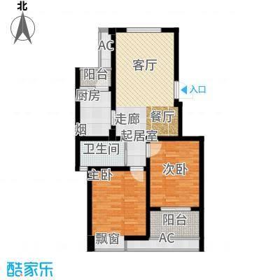 河海新邦B户型22室2厅1卫1厨85.00㎡户型