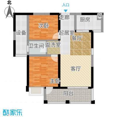 联发君悦湖90.00㎡A户型3室2厅1卫