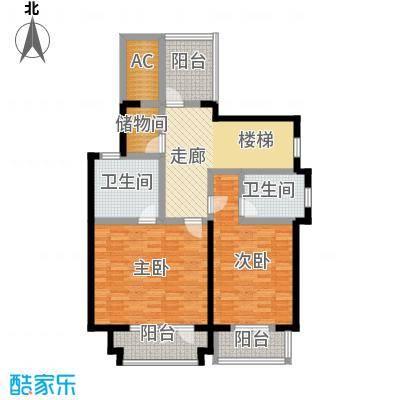 滨海湖84.00㎡滨海湖双拼B二层户型图2室2厅2卫1厨84.00平米户型2室2厅2卫