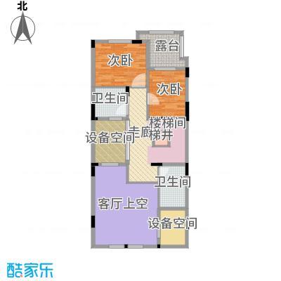 隆鑫72府166.21㎡B1二层户型2室2卫