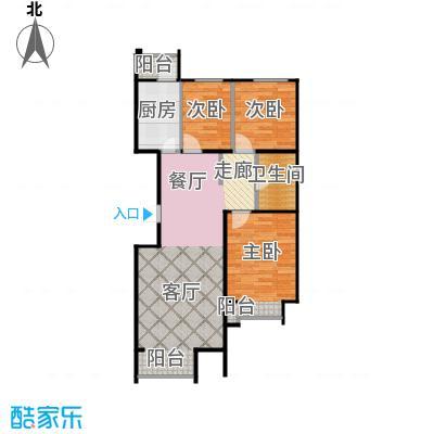 金第梦想山104.00㎡B户型2室1卫1厨