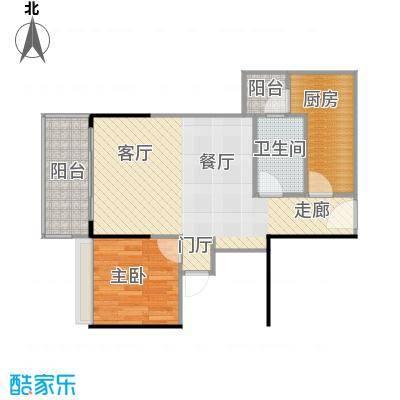 保利中辰广场B1栋05单元户型1室1卫1厨