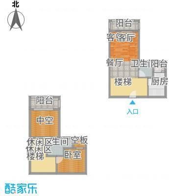 汇景上层户型1厅2卫1厨