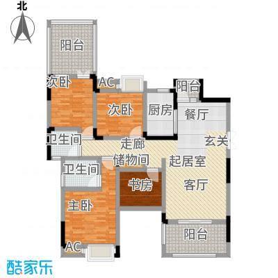香漫溪岸122.04㎡5号楼2单元5楼2号,三室两厅双卫户型3室2厅2卫