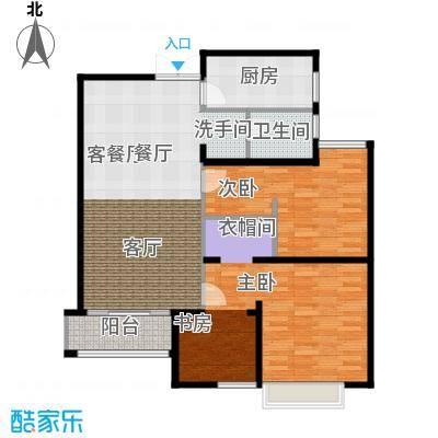绿地白金汉宫100.30㎡A1、A2、A3、A4、A5、A6楼A2户型2室2厅1卫100.30平米户型2室2厅1卫