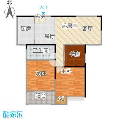 天隽峰15#楼C+空中花园户型3室1卫1厨