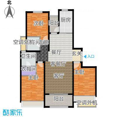 绿地白金汉宫138.00㎡C4#楼户型138平米户型3室2厅2卫