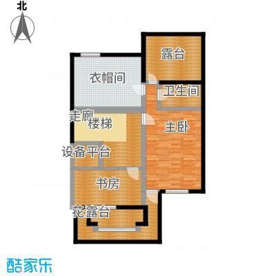 龙湖庄园三层 单层建筑面积83.67平米户型