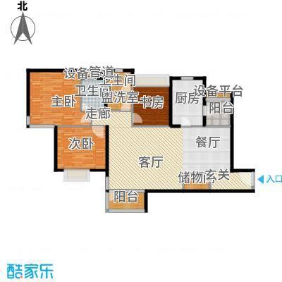 泰荣苑131.00㎡房型: 三房; 面积段: 131 -140 平方米; 户型