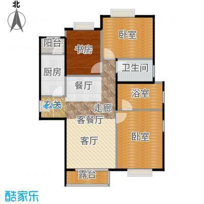 北京明发广场117.99㎡B1户型1室1厅1卫1厨
