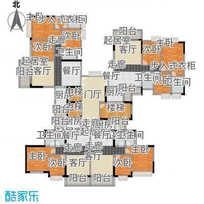 金竹家园户型9室8卫4厨