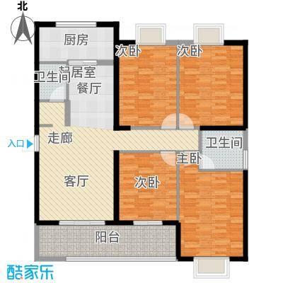 罗马西西里151.44㎡3#A3户型4室2厅2卫