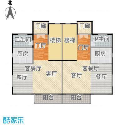 荔城碧桂园双拼别墅H32-c一层户型2厅2卫2厨