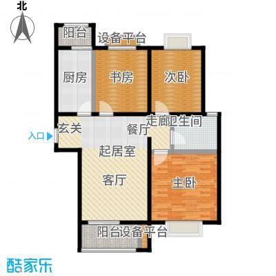 顺鑫・山语溪101.00㎡N户型 三室两厅一卫户型3室2厅1卫