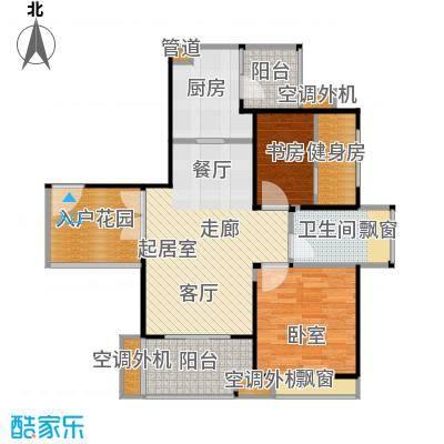 汇锦城74.00㎡A户型两室两厅一卫户型2室2厅1卫