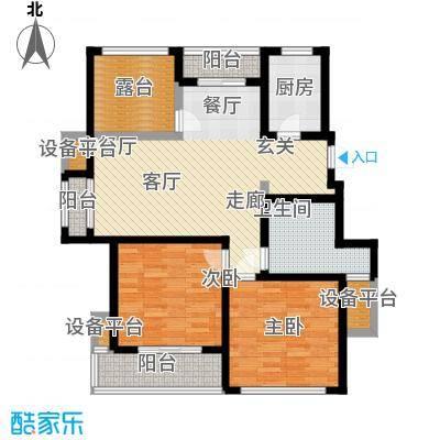 桂花园101.00㎡桂花园户型图三房二厅一卫-101平方米-22套(1/3张)户型10室