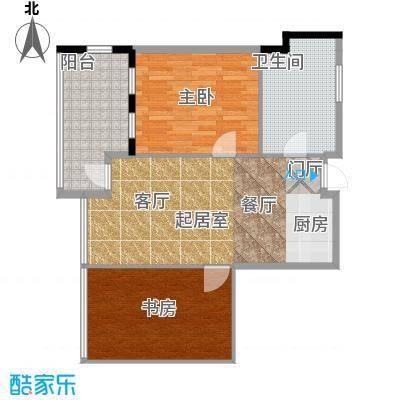 雅居乐城南源著84.00㎡微博公寓1栋12单元户型2室1卫