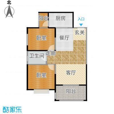 高新第五季89.00㎡两室两厅一卫89平米E户型