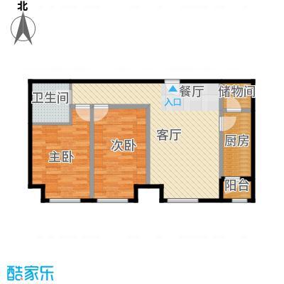 瞰海品筑94.72㎡03/04户型2室1厅1卫1厨