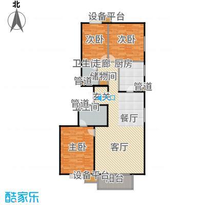 华纺易城164.27㎡华纺易城户型图D2户型三室二厅二卫(2/11张)户型10室