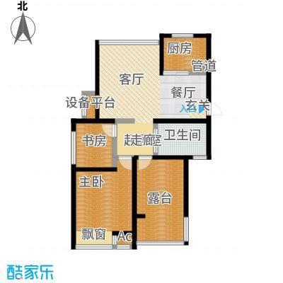 新城长岛92.00㎡新城长岛户型图二房二厅一卫:92平米(1/4张)户型10室