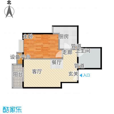 华纺易城8、10、12号楼A3户型1室1厅1卫1厨