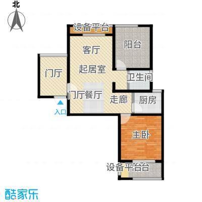 泰盈八千里83.00㎡二房二厅一卫-83平方米-52套户型