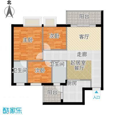 友田碧云轩93.00㎡6栋2~8层03户型3室2厅2卫