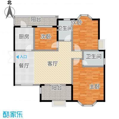 中环岛122.00㎡B2户型3室2厅2卫
