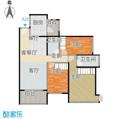 雅居乐锦官城107.15㎡C户型3室1厅2卫1厨