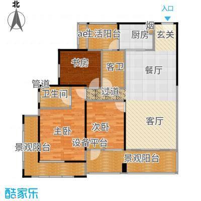 中德英伦城邦89.00㎡F户型 5-28层 3室2厅2卫户型3室2厅2卫
