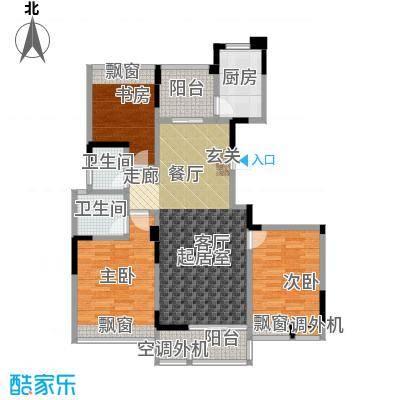 吟枫苑户型3室2卫1厨