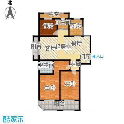青枫壹号140.00㎡E户型3室2厅2卫