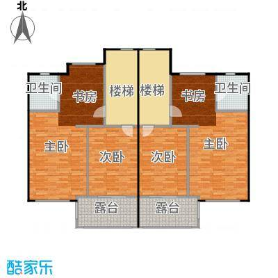 荔城碧桂园双拼别墅H32-c二层户型4室2卫