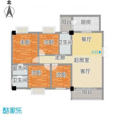 帝缘花园148.13㎡A4座5~10层03单位户型4室2卫1厨