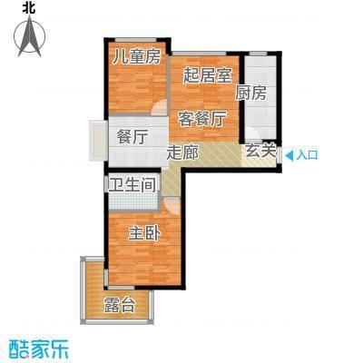 金隅・观澜时代92.00㎡G3`户型2室2厅1卫