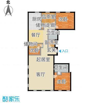 万国城MOMA231.30㎡C户型 四室两厅两卫户型4室2厅2卫
